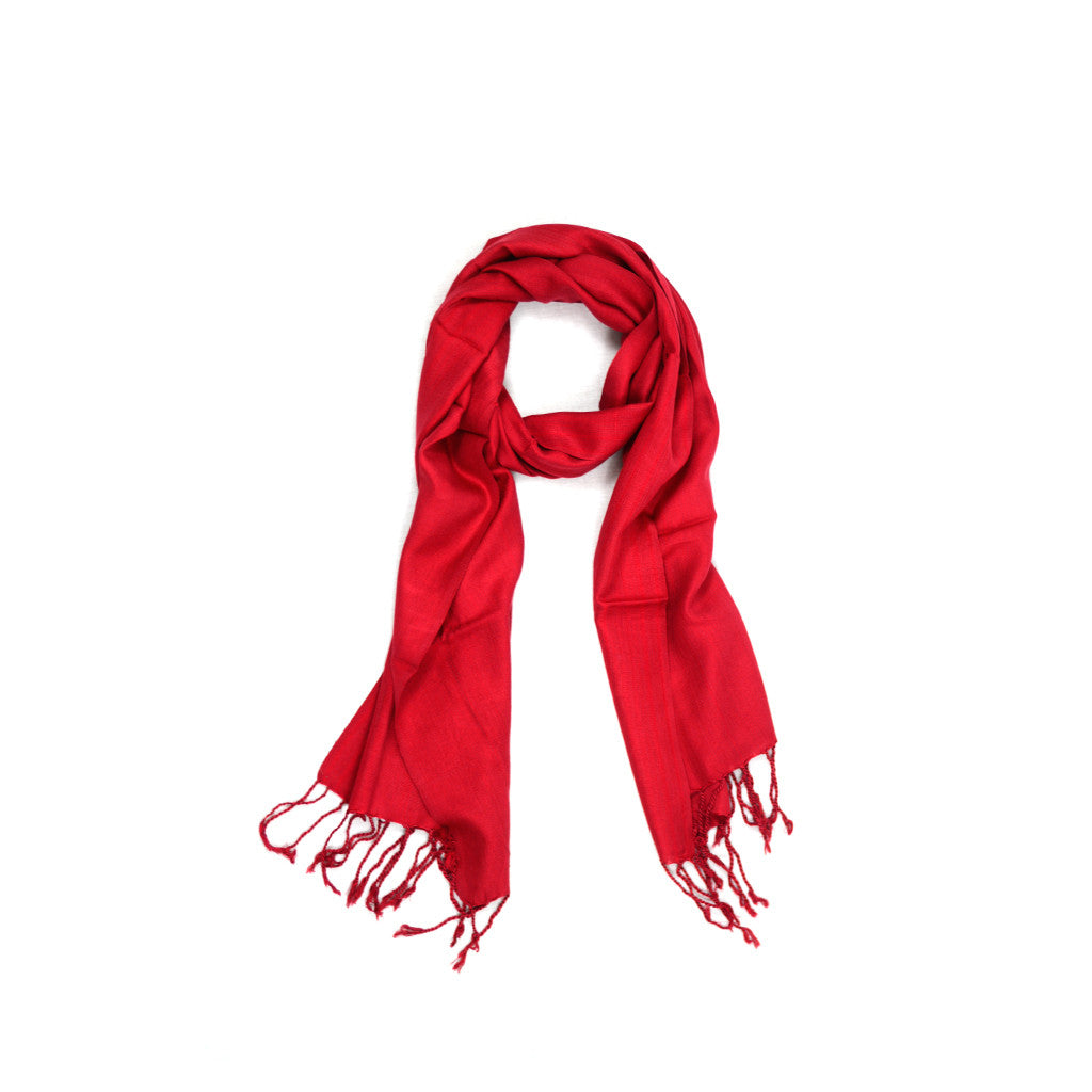 Large  Red Scarf-D