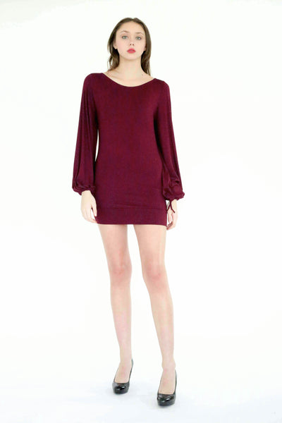 Indre tunic top/dress with drawstring puff sleeve