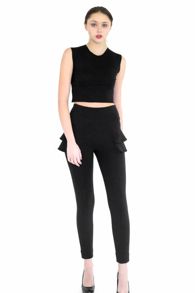 Jada side skirt peplum detailed riding pant
