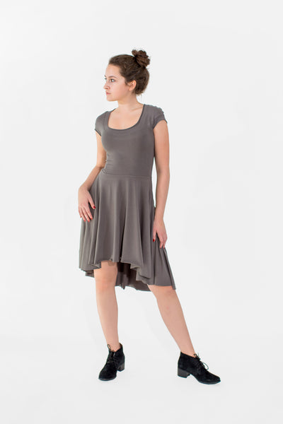 Florence bamboo and cotton jersey high/low hem dancer dress