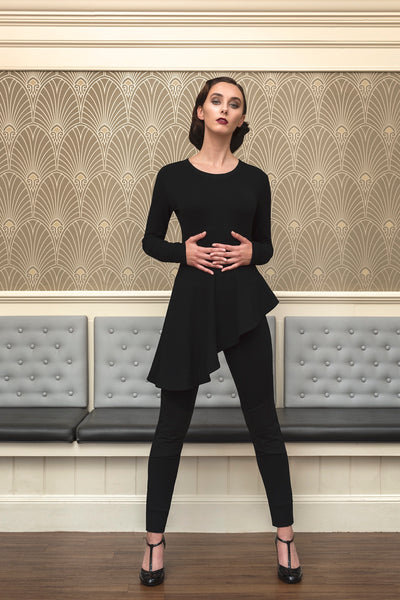 The Audra asymmetrical peplum top