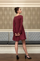 The Dovilee swing dress with bottom puff sleeve
