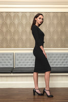 Birute 3/4 sleeve  little black pencil dress