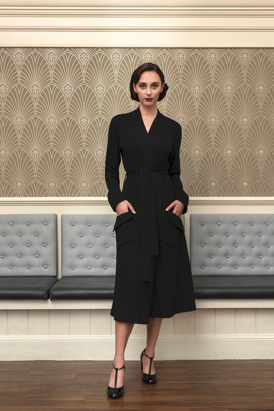 The Dalia long sleeve wrap coat dress