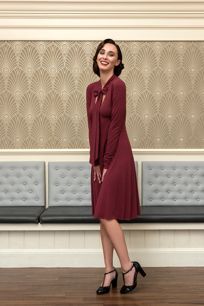 Danelle A-line long sleeve dress