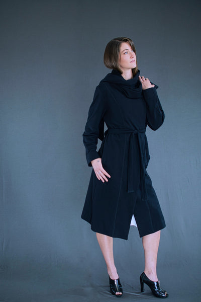 The Zoika sweater coat with built in scarf