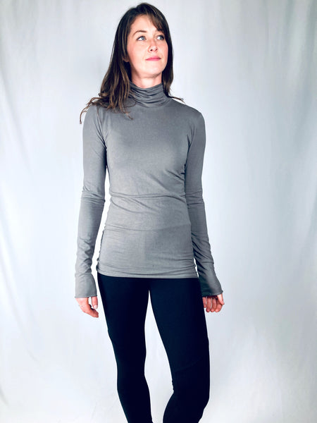 Holly turtle neck tunic tee in bamboo jersey