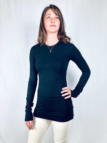 Cally basic bamboo jersey long sleeve tunic tee