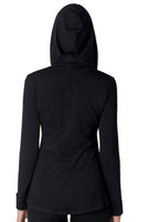 The Debbie hooded A-line bamboo jersey long sleeve tee