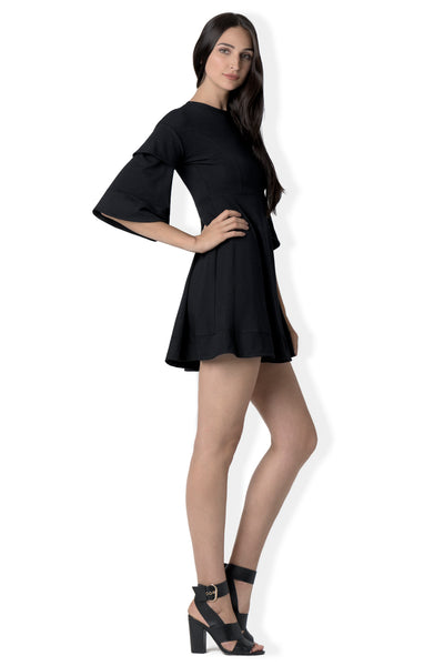The Centerville A-line mini LBD in  bamboo jersey
