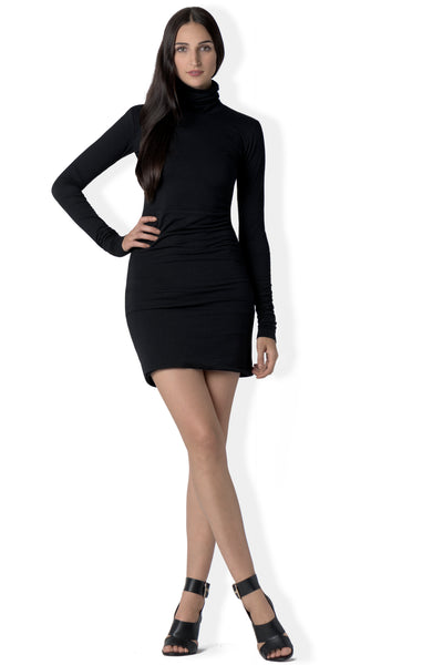 The Patti turtle neck mini dress in bamboo jersey