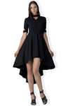 The Delaney high/low hem dress with cut outs in bamboo and organic cotton french terry