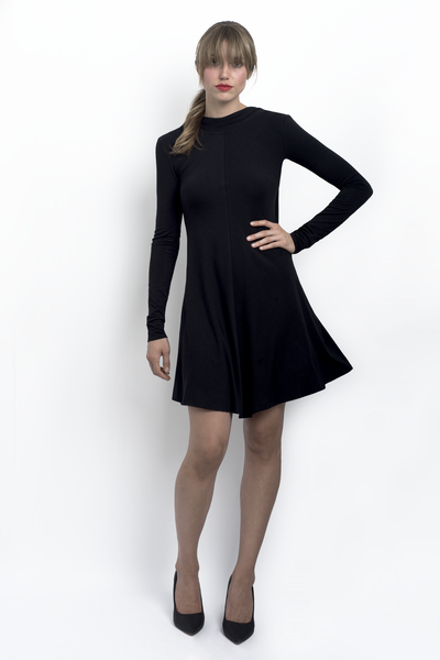 Kathryn scoop back bamboo jersey little black dress