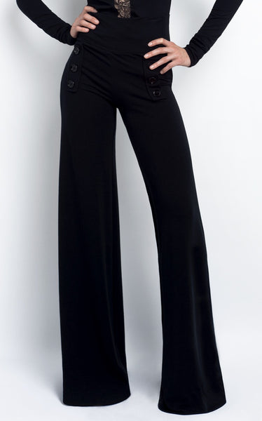 Elizabeth sailor style trouser in bamboo and organic cotton french terry