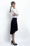 Emma high/low cascade skirt in stretch bamboo jersey