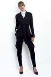 Annalies peplum wrap jacket in bamboo and organic cotton french terry