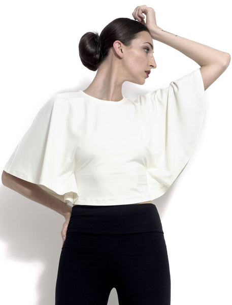 Nadine Capelette bamboo jersey crop top