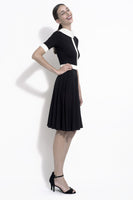 Monika colorblock dress with contrasting collar and waist