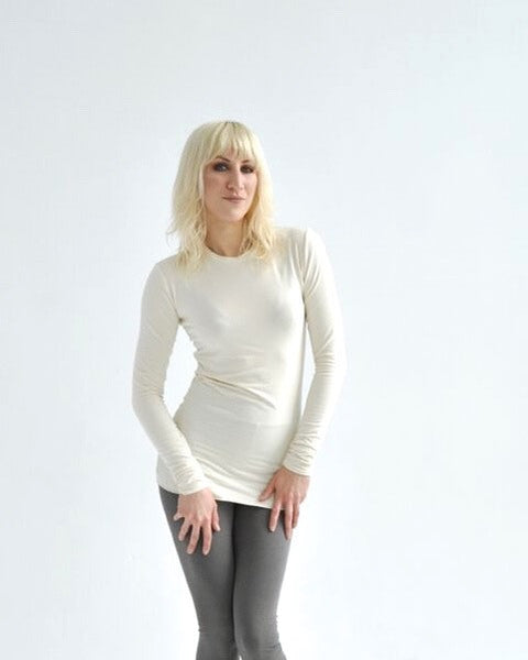 The Cally - long sleeve crew neck tunic in bamboo jersey