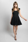Fiona skater little black dress in bamboo and cotton jersey