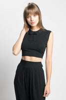 Greta vintage style bamboo and cotton jersey crop tank