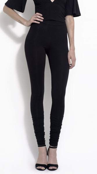 "Jules ""stacked"" bamboo jersey leggings"