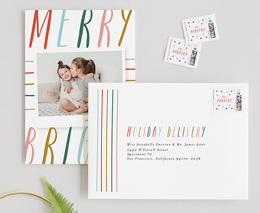 addressed holiday cards