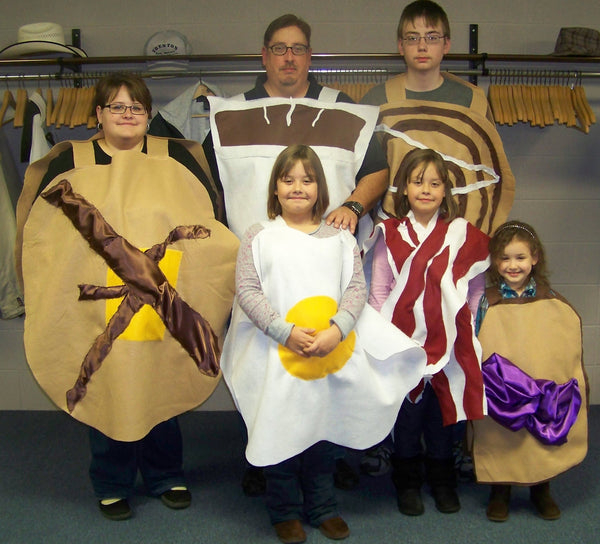 family breakfast memorable halloween costume