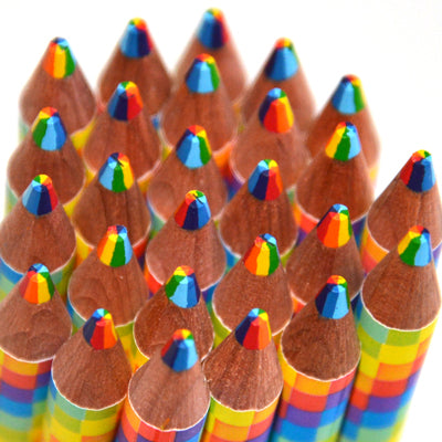 Rainbow colored pencils makes the dreadfulness of writing thank you notes more exciting