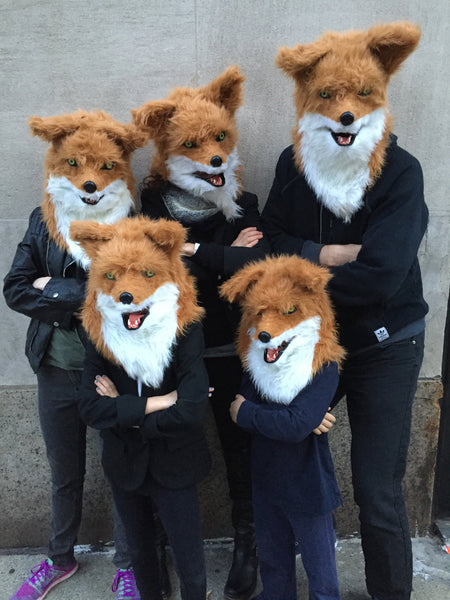 family halloween costume fox gang