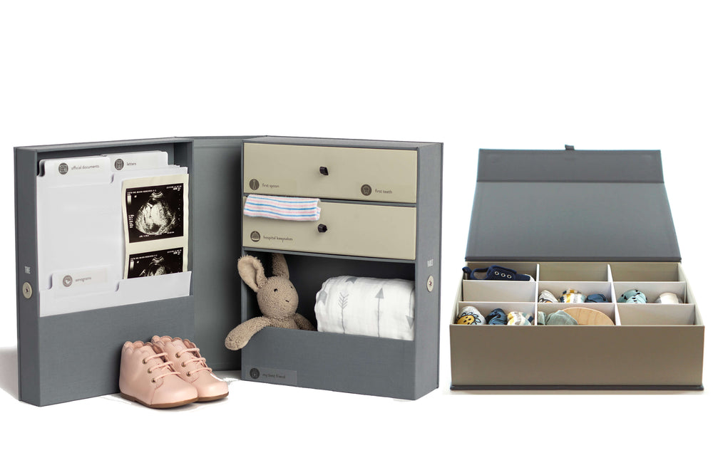 Baby Keepsake Vault & Box Gift Set (2 pieces)