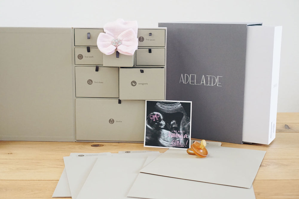 Load image into Gallery viewer, Personalized Deluxe Baby Edition Keepsake Box - Custom