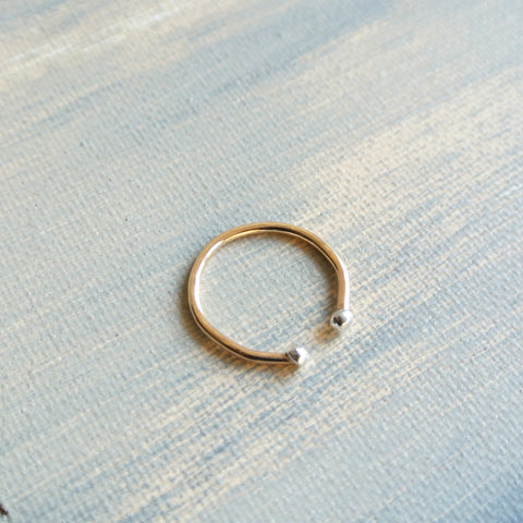Ball Stacking 14kt Gold Filled Sterling Silver Ring
