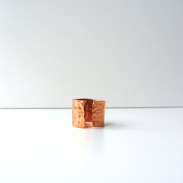 Ava - Copper Cuff Band Ring - Gift For Her