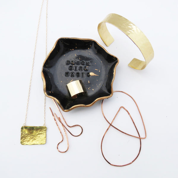 Black Girl Magic Jewelry Dish Copper and Black Collection - NEW - The Pink Locket - 2