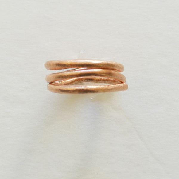 Bria - Copper Triple Wrap Statement Ring - The Pink Locket