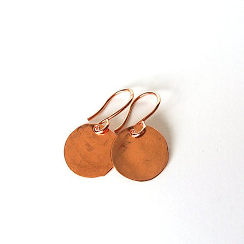 "Mini-Steel Pan Disc Earrings - Copper Earrings 5/8"" Wide"