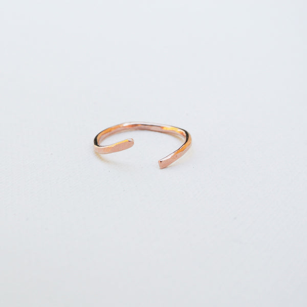 Nia - Copper Sterling Silver Stacking Ring Set Band - The Pink Locket - 3