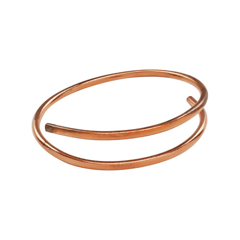Dalia - Double Cuff Copper Bangle Bracelet