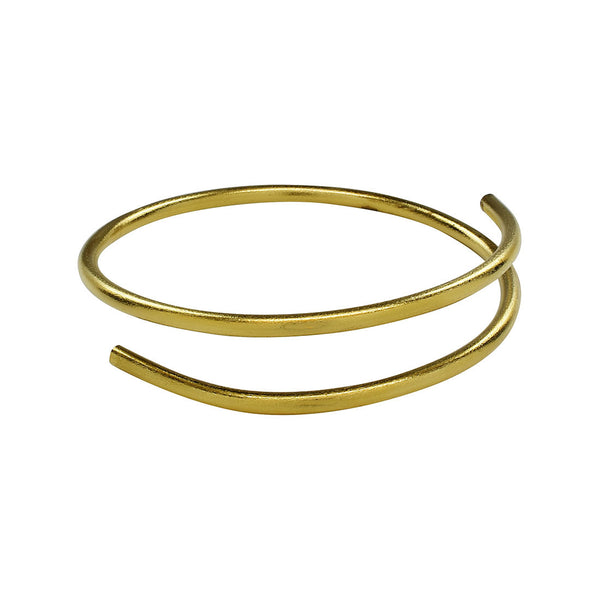 Deena - Double Cuff Gold Bangle Bracelet