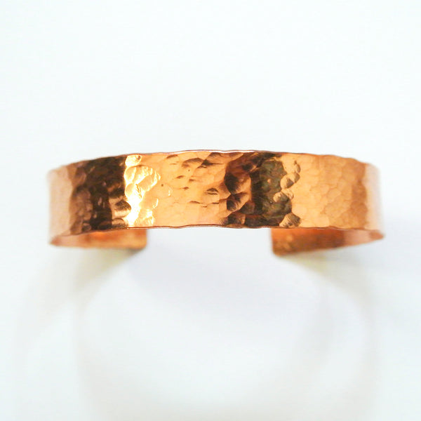 Elle - Medium Copper Cuff Bracelet - The Pink Locket - 1