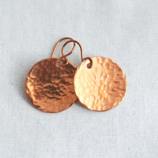Steel Pan Copper - Dangle Copper Earrings - The Pink Locket - 4