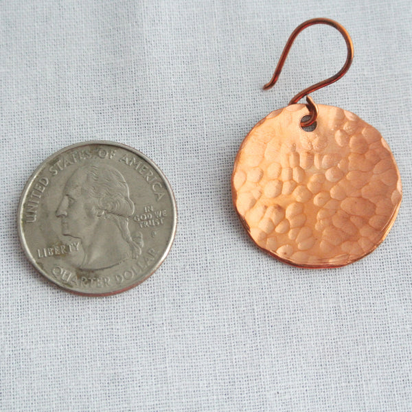 Steel Pan Copper - Dangle Copper Earrings - The Pink Locket - 5