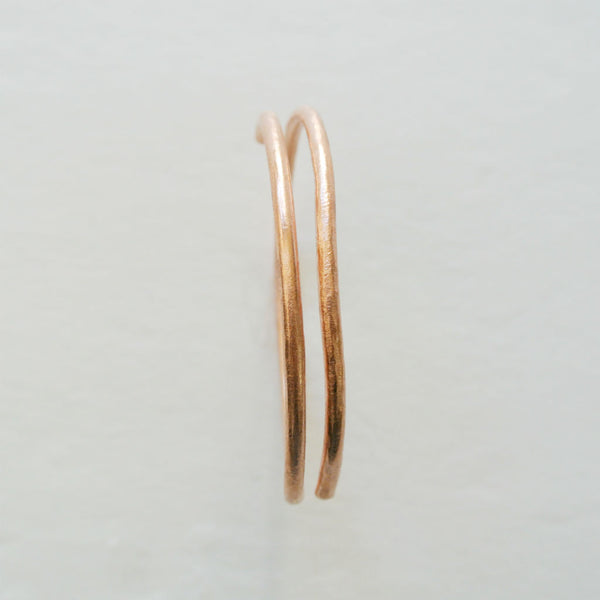 Dalia - Double Cuff Copper Bangle Bracelet - The Pink Locket - 4