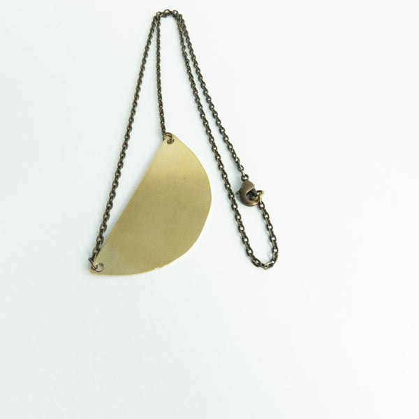 Denise - Gold Half Circle Geometric Necklace