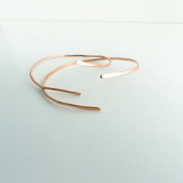 Elaine - Copper Bangle Cuff - The Pink Locket