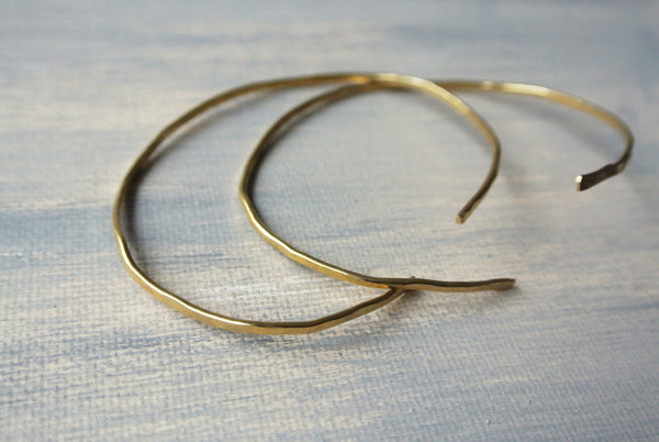 Elaine - Gold Brass Bangle Cuff