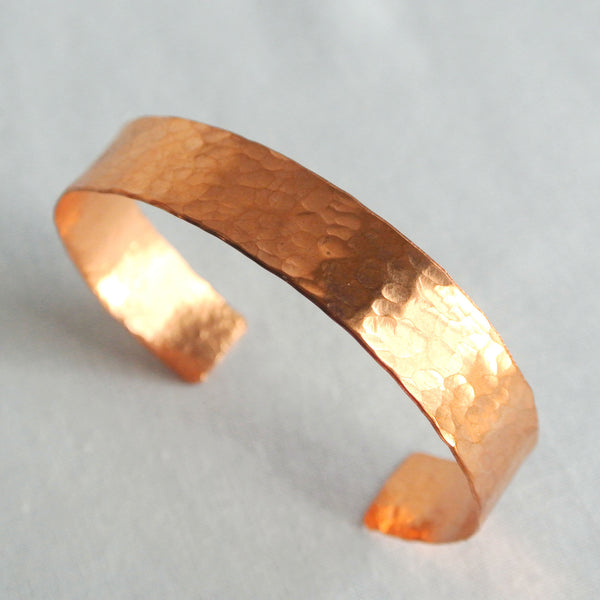 Elle - Medium Copper Cuff Bracelet - The Pink Locket - 2