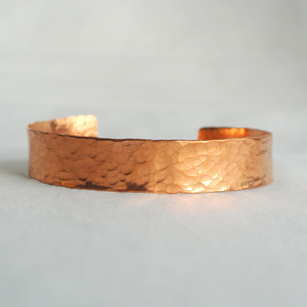 Elle - Medium Copper Cuff Bracelet - The Pink Locket - 3