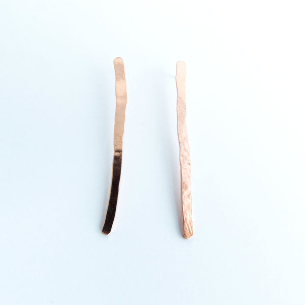 Erika - Match Stick Copper Dangle Stud Earrings
